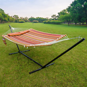 Apepro Hammock With Stand 2 Person Heavy Duty Freestanding Double Hammock And St