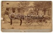 Horse And Wagon Old Marsh Home Farm North Maine Ided Antique Photo On Board