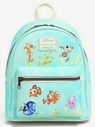 Loungefly Disney Pixar Finding Nemo Dory Watercolor Character Mini Backpack Nwt
