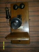 Antique Chicago Telephone Supply Co. Wall Mounted Phone Box All There