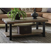 Bolton Furniture Pomona 42 Metal And Reclaimed Wood Coffee Table