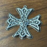 Reed And Barton Sterling Silver Christmas Cross Ornament 1975