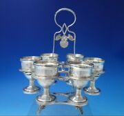 Kings By H.i. Sterling Silver Poached Egg Server With 6 Cups 7pc 5471