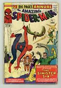 Amazing Spider-man Annual 1 Fr 1.0 1964 1st App. Sinister Six