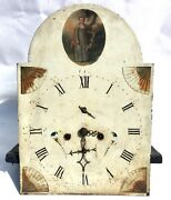 Antique Longcase Grandfather Clock Dial And Movement 8 Day Stonehouse Leeds