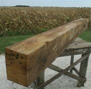 Reclaimed Barn Beam Wood Shelf, Architectural Salvage Fireplace Mantel A12,