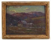 Eliot Candee Clark Am. 1883-1980 Southern Impressionist Landscape Oil On Board