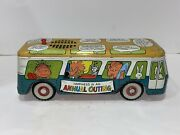 Rare Vintage 1966 Chein Tin Peanuts Talking Bus Snoopy Litho Battery Op Toy