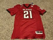 Adidas Nc State Wolfpack Ncaa Jersey Red Menandrsquos Size Small Nwt