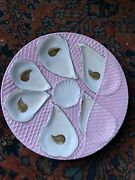 Twoandrsquos Company 8 Inch Six Well Oyster Collectible Plate Pink And White