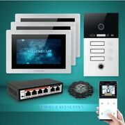 Homsecur 7 Wifi Video 3 Houses Door Phone Intercom System+recording And Snapshot