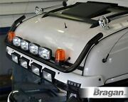 To Fit Renault Premium Black Front Roof Light Bar + Spot Lamps + Amber Beacons