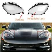 Clear Headlight Lens Cover Gaskets Replacement Kit For Corvette 2005-2013 C6