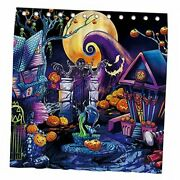 72x72andldquo Halloween Before Christmas Shower Curtain For Bathroom Sets Trunk