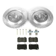 Brake Disc And Pad Kit Rear Driver And Passenger Side New Lh Rh For Cadillac Cts