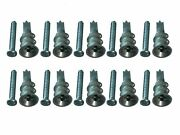 New Box 1000 X Cavity Wall Speed Plugs With Screws Zinc Alloy With Cutting Tip S