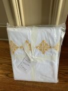 Pottery Barn Embroidered Organic Duvet Cover King Yellow Gold Daffodil Sold Out