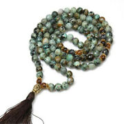 Natural African Turquoise Necklace 108 Buddha Beads Bracelet Christmas Chain