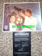 Vintage Star Wars Mark Hamill Carrie Fisher Cast Signed Photo Luke Official Pix