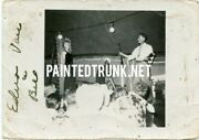 Antique Photo 1940s Knife Throwing Circus Sideshow From Mabel Darpel 2.5x3.5