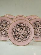 9 Pink Antique Minton Plates Aesthetic Movement Floral And Art Deco Style