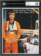 Mark Hamill These X-wing Pockets Are Too Tight R2 Signed 8x10 Photo Bas Slabbed