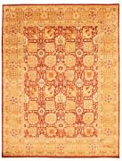 Vintage Hand-knotted Carpet 9and0390 X 11and0398 Traditional Oriental Wool Area Rug