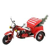 Christmas Tree 13 Inch Red Motor Trike Lighted Tabletop Indoor Outdoor Decor