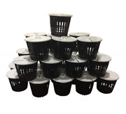 Net Pot 3 Inch With Lids Mesh Hydroponic Aeroponic Orchid Round- 25 Pack
