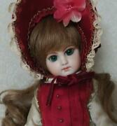 Jumeau Bisque Girl Doll Antique Doll Height 27cm Blue-green Eyes Vintage Used