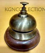 Brass Table And Desk Bell Antique Finish Hotel Reception Call Ring Bells