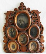 Antique Tintype Photograph Display Frame Folk Art Victorian Carved One Of A Kind