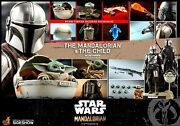 Hot Toys Tms015 Mandalorian And The Child Deluxe 1/6 Star Wars Collectible Set