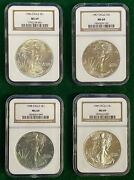 1986 - 2010 1 American Silver Eagle Ngc Gold Label Ms69 Set 25 Coins