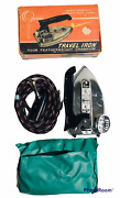 Omega Travel Iron Chrome Fold Down Handle Featherweight 200 Watts 420 A