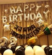 Birthday Party Decorations Set With Happy Birthday Balloons Banner Us Seller