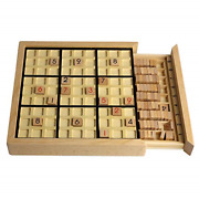 Andux Land Wooden Sudoku Puzzle Board Game With Drawer Sd-02 Black
