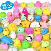 Mochi Squishy Toys Fly2sky 28pcs Animal Mini Squishies Kawaii Party Favors For