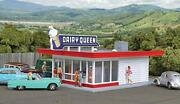 Walthers Cornerstone Ho Scale Model Vintage Dairy Queen Kit, 5-1/16 X 3-1/2 X