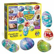 Creativity For Kids Hide And Seek Paint Pour Rock Painting Art Kit - Arts And