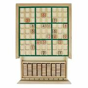 Andux Land Wooden Sudoku Puzzle Board Game With Drawer Sd-02 Green