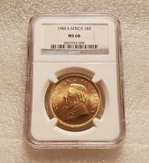 1984 South African Gold 1oz. Krugerrand Ngc Ms68