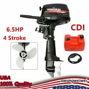6.5hp 4 Stroke 123cc Outboard Motor Boat Engine Air Cooling System Cdi System