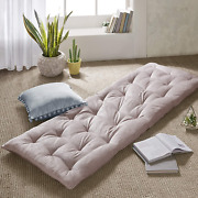 Intelligent Design Edelia Foldable Poly Chenille Lounge Floor Pillow Cushion For