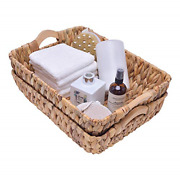 Storageworks Hand-woven Large Storage Baskets With Wooden Handles, Water Wicker