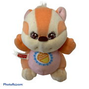 🍇 Fisher Price Baby Squirrel Plush Rattle Toy, 1998 Fp Toys, Cute Vintage Toys