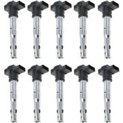 Set-wkp9212110-10 Walker Products Set Of 10 Ignition Coils New For Vw Beetle A4