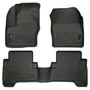 99741 Husky Liners Floor Mats Front New Black For Ford Escape C-max 2013-2018