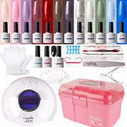 Gel Nail Polish Kit With 36w Lamp - 15 Bottles Candy Lover 10ml Pastel Colors Uv