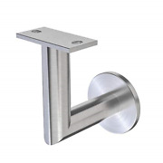 Stainless Steel Handrail Wall Bracket Luminous Quasar Mounting Surface Wood Or